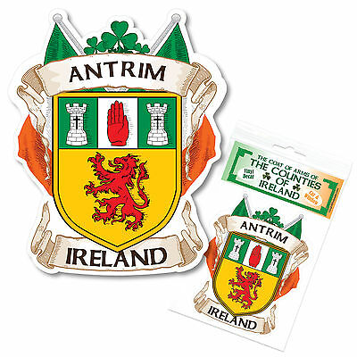Antrim Ireland County Decal Sticker Irish GAA Auto