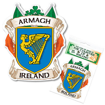 Armagh Ireland County Decal Sticker Irish GAA Auto