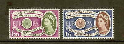 Gb 1960 Europa Set Unmounted Mint Sg621/622