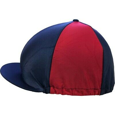 Horse Riding Hat Cover - Stretch one size Navy/Red - SHIRES