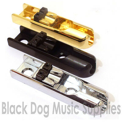 Individual bass guitar bridge pieces full sets chrome black gold 4 5 or 6 string