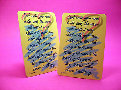 """Don't Write Your Name"" - 2 Verse Cards - SKU# 881"
