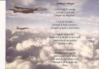 Personalized Air Force Airmen's Prayer Military Gift Son Husband