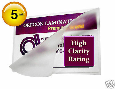 1000 Hot 5 Mil Military Card Laminating Pouches 2-5/8 x 3-7/8 Clear
