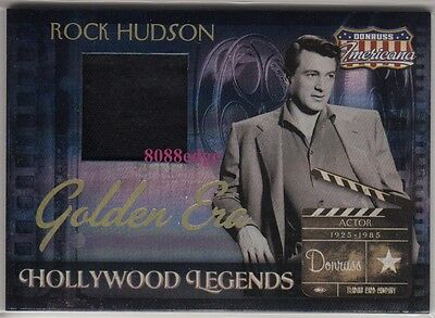 2007 Americana Worn Swatch: Rock Hudson #1/50 - 1/1 Hollywood Legend Golden Era