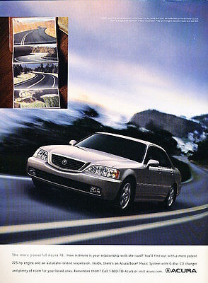 2002 Acura RL 225hp - road -  Classic Advertisement Ad A56-B