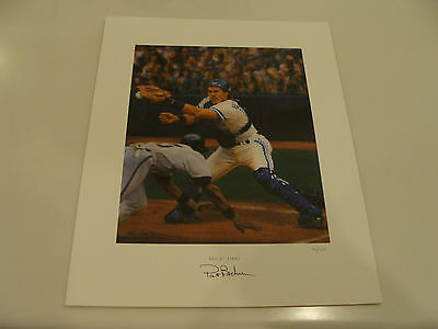 1992 WS MVP Pat Borders Signed Lithograph Toronto Blue Jays Ltd Ed #'d /20
