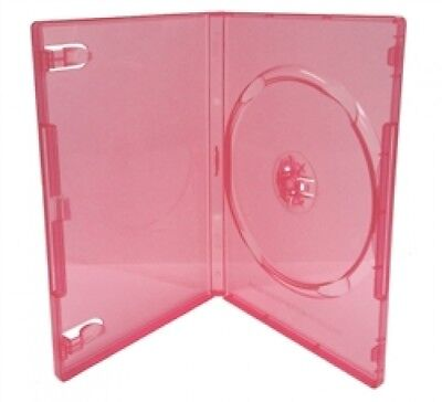 25 STANDARD Clear Red Color Single DVD Cases
