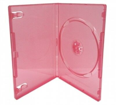 50 STANDARD Clear Red Color Single DVD Cases