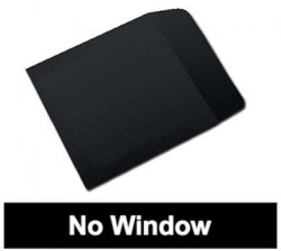 100 Black Paper CD Sleeves with Flap (No Window)