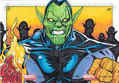 Marvel Universe 2011 Sketch Card Puzzle by Jake Minor of Super Skrull