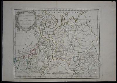 1778 Original Vaugondy Map North Russia Estonia Latvia