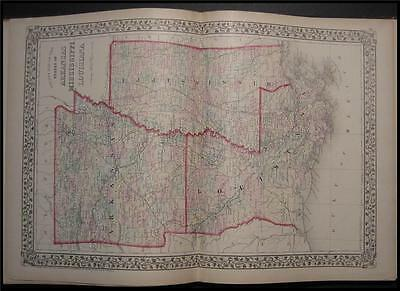 1874 Antique Map Mississippi Louisiana Mitchell AR MS