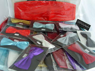 Any Mens Polyester Bow tie and Cummerbund Set >P&P 2UK>1st Class>in Many Colours