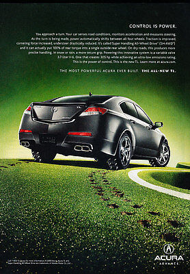 2009 Acura TL - control is power -  Classic Advertisement Ad A58-B