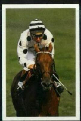 Scarce Trade Card of Willie Carson, Horse Racing 1986