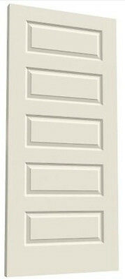 Rockport 5 Panel Raised Primed Molded Solid Core Wood Composite Doors - Prehung