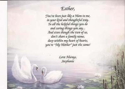 Personalized Poem Like A Mother Gift for Other Mom Art Choices Mother's Day Gift