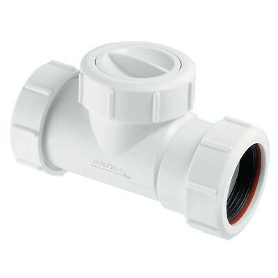 "McALPINE PLUMBING PVC WASTE NON RETURN VALVE PIPE USE 11/2"" OR 40MM T28M-NRV"