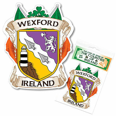 Wexford Ireland County Decal Sticker Irish GAA Auto