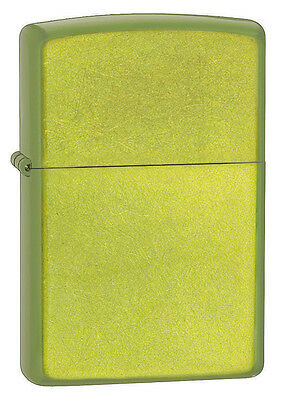 Zippo Lurid Green Translucent Powdercoate Finish WindProof Lighter 24513 NEW