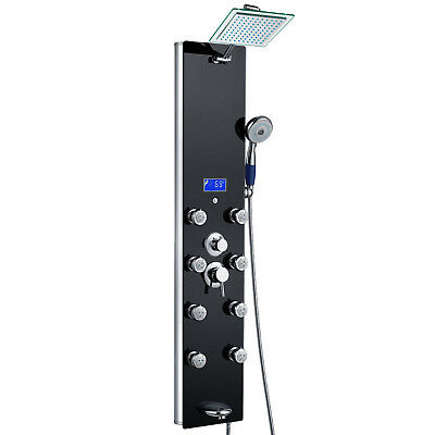 Multi-Function Shower Massage Panel Tower System Functions & Tub Spout Faucet