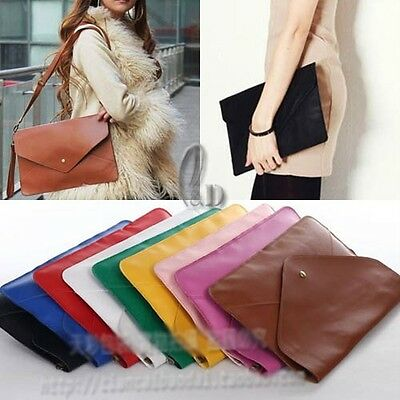 Oversized Envelope Clutch Purse messenger Shoulder HandBag Multiple Colour ha142