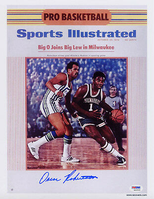 Oscar Robertson SIGNED Sports Illustrated Print ITP PSA/DNA AUTOGRAPHED