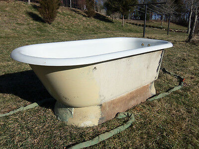 Antique Pedestal Tub, Cast Iron