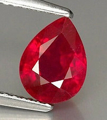 Pear AAA Rated Bright Red Lab Created Ruby (5x3 to 25x20mm)
