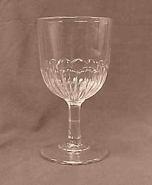 Eureka Early American Pattern Flint Glass Goblet