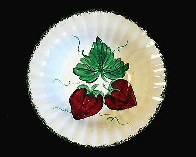 Vintage BLUE RIDGE Southern Potteries WILD STRAWBERRY Round Vegetable Bowl 9-1/4