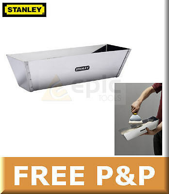 "Stanley 12"" Stainless Steel Mud Pan For Plastering/Plasterers/Dry Lining/DryWall"