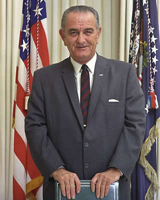 36Th U.s. President Lyndon B. Johnson Portrait 8X10 Photo
