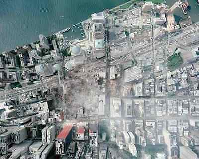 Aerial View Of World Trade Center Site 8X10 Photo 9/11