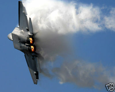 F-22 Raptor Jet Performs At Air Show 8X10 Photo Usaf