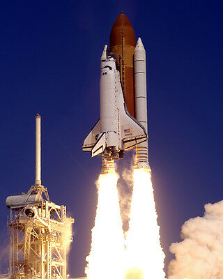 STS-43 Launch Space Shuttle Atlantis 8X12 PHOTOGRAPH
