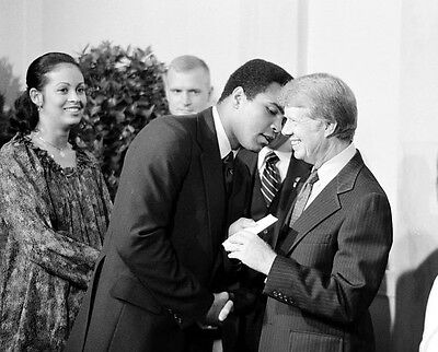 Muhammed Ali With President Jimmy Carter 8X10 Photo