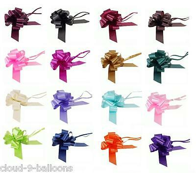 10 x 30mm Pull Bows for Wedding Pew Ends, Car Decoration, Gift Wrap, Floristry