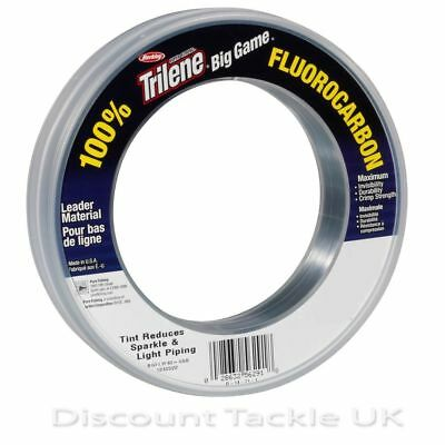 Berkley Big Game Fluorocarbon 30Lb - 80Lb Shock Leader Sea Choose Size & Colour