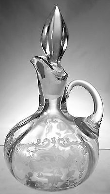 Cambridge - No. 3900/100 6 oz Oil bottle with Chantilly Etch