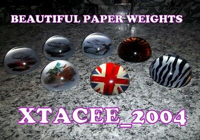 Modern Collectors CRYSTAL Glass Paperweights 8 designs New in Gift box