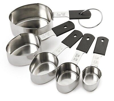 NORPRO 3067 Grip-EZ 18/10 Stainless Steel 5pc Measuring Cup Set