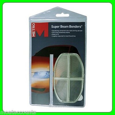 Super Beam Benders For Driving in Europe [HG128] Headlamp Beam Converters