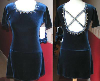 NEW TWIZZLE Ice Skating COMPETITION  Dress Adult Medium with loads of Crystals