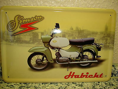 ddr ostalgie simson moped sr 2 blechschild schild. Black Bedroom Furniture Sets. Home Design Ideas