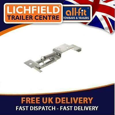 TRAILER Number plate spring loaded holders PAIR Stainless Steel GREAT IDEA