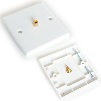 Single 1 Rca Phono Female Socket Outlet Wall Face Plate - Audio Sub Composite