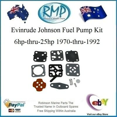 A Brand New Evinrude Johnson Fuel Pump Kit 6hp-thru-25hp 1970-1992 # R 393088