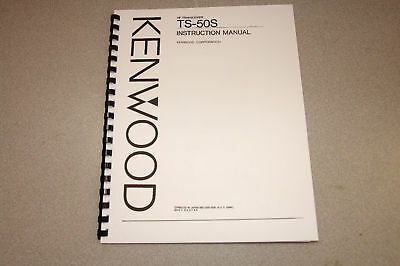 ~~ Kenwood TS-50S HF Xcvr Operation Manual -  Comb BOUND